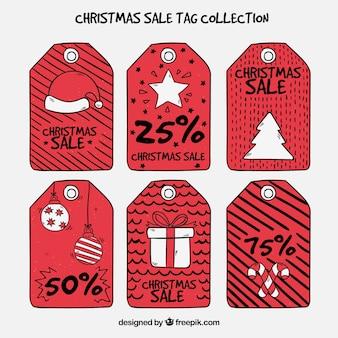 Pacote de etiquetas de vendas de natal