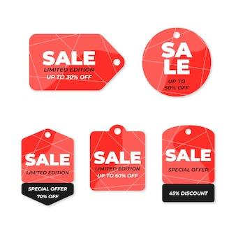 Pacote de etiquetas de vendas planas