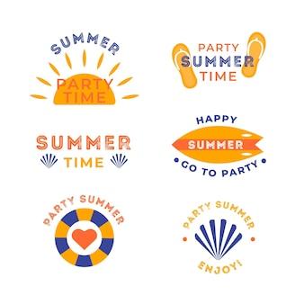 Pacote de etiquetas de verão