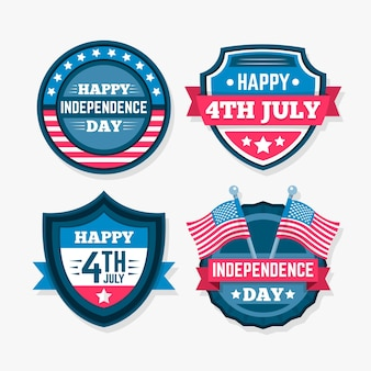 Pacote de etiquetas do dia da independência