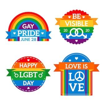 Pacote de etiquetas do dia do orgulho
