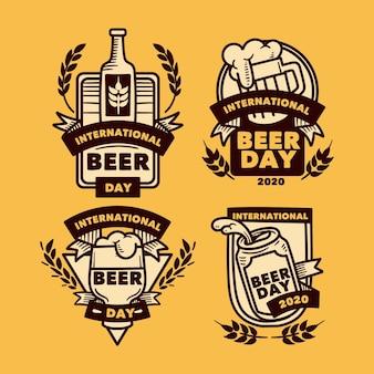Pacote de etiquetas do dia internacional da cerveja