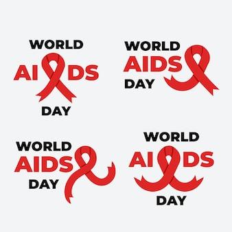 Pacote de etiquetas do dia mundial da aids