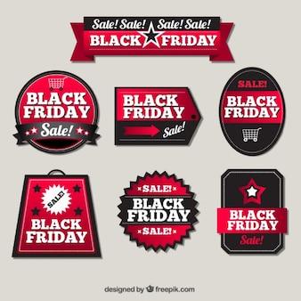 Pacote de etiquetas elegantes venda para sexta-feira preta
