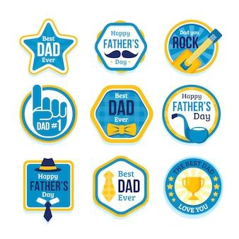 Pacote de etiquetas para o dia dos pais