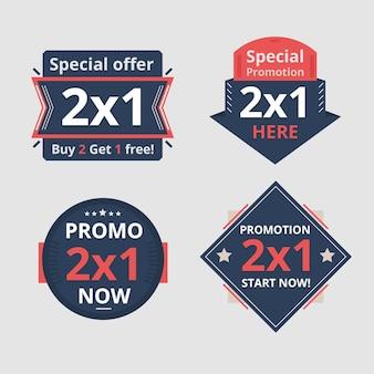 Pacote de etiquetas promocionais de oferta especial