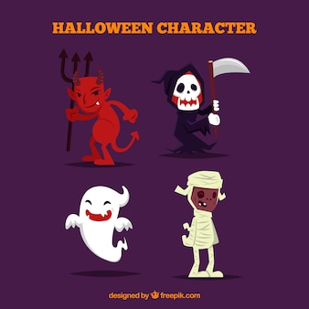 Pacote de fantasia de halloween