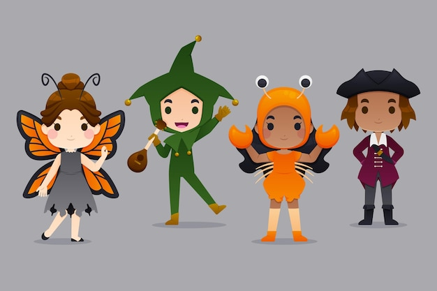 Pacote de fantasia infantil de halloween