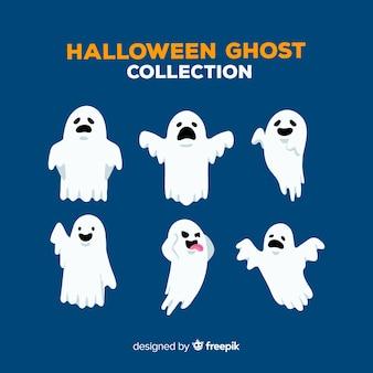 Pacote de fantasmas de halloween