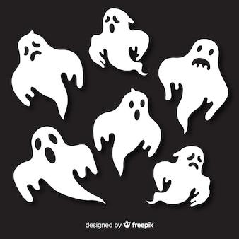 Pacote de fantasmas do dia das bruxas