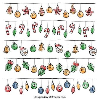 Pacote de fantásticas luzes decorativas de natal