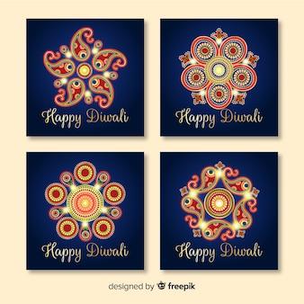 Pacote de férias diwali instagram post