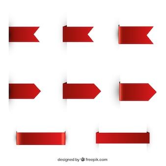 Pacote de fitas vermelhas