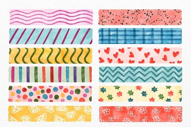 Pacote de fitas washi diferentes