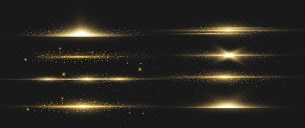 Pacote de flares de lente horizontal amarela