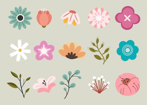 Pacote de flores da primavera