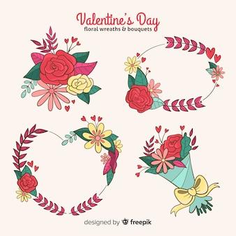Pacote de flores do dia dos namorados