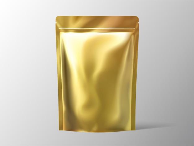 Pacote de folha de cor dourada para uso de design em ilustração 3d