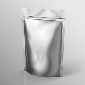 Pacote de folha de prata para uso de design em ilustração 3d