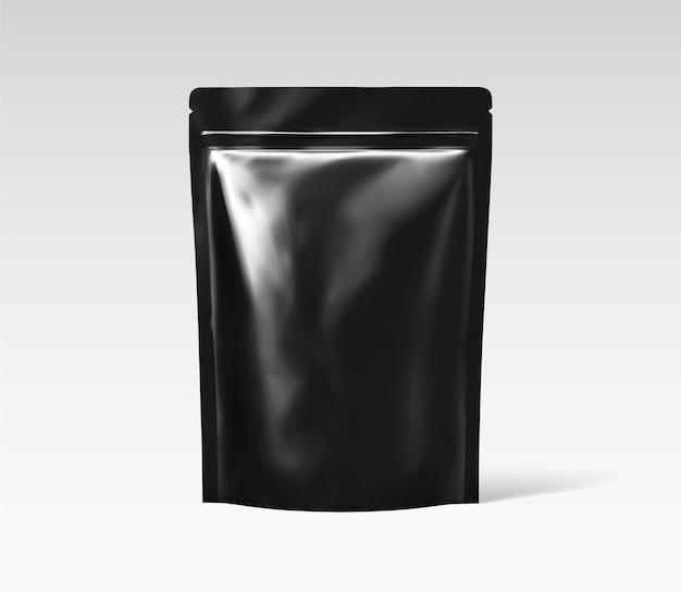Pacote de folha preta para uso de design em ilustração 3d