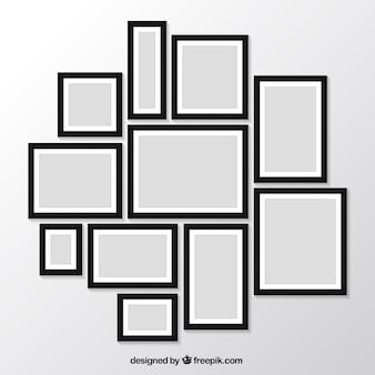 Pacote de fotos moderno quadros na parede
