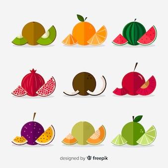 Pacote de frutas planas circuladas