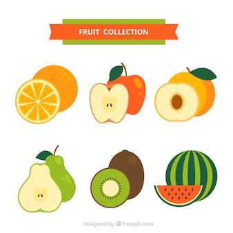 Pacote de frutas planas