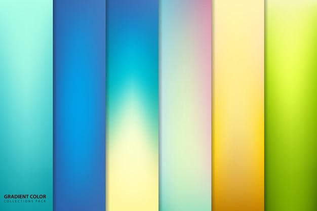 Pacote de fundo gradiente colorido