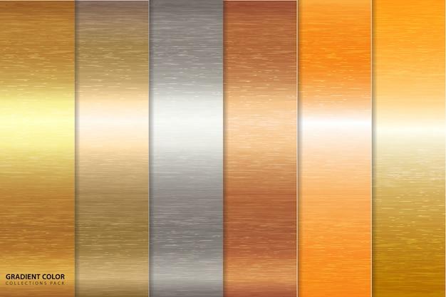 Pacote de fundo gradiente dourado