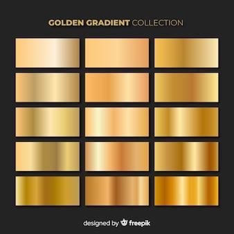 Pacote de gradiente dourado brilhante