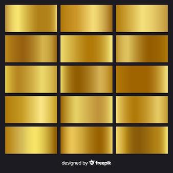 Pacote de gradiente dourado