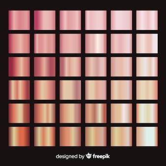 Pacote de gradiente ouro rosa brilhante