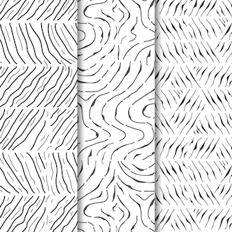 Pacote de gravuras desenhadas à mão