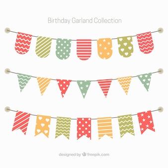 Pacote de guirlandas de aniversário decorativo