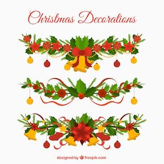 Pacote de guirlandas decorativas de natal