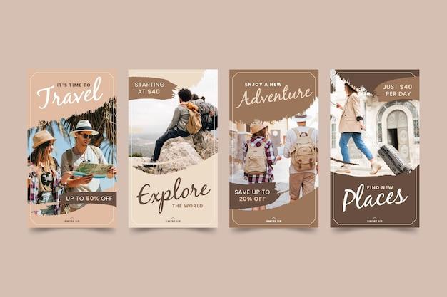 Pacote de história do instagram para venda de viagens