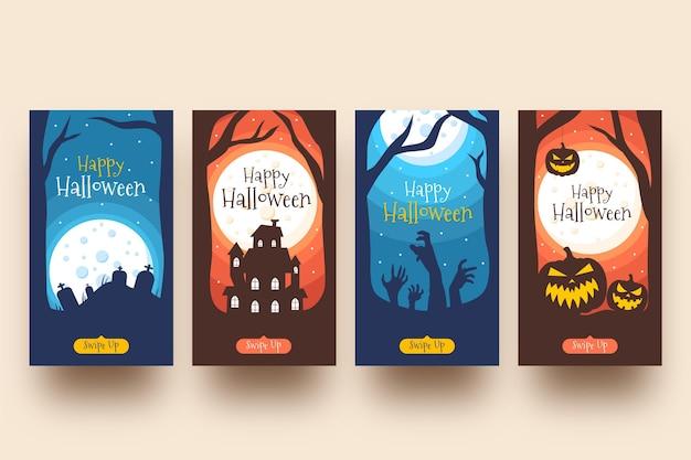 Pacote de histórias do instagram de halloween