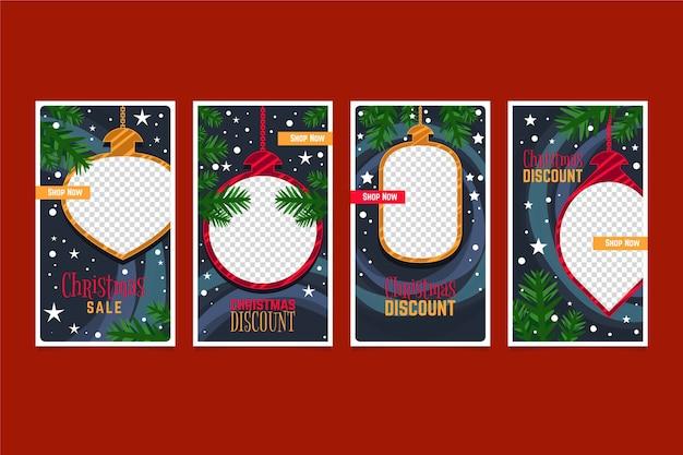 Pacote de histórias do instagram de venda de natal