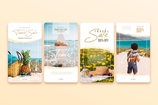 Pacote de histórias do instagram para venda de viagens