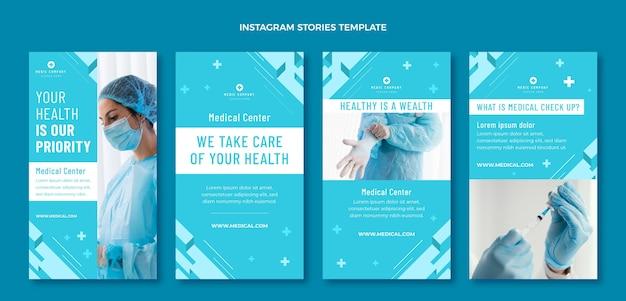 Pacote de histórias ig médicas desenhadas à mão