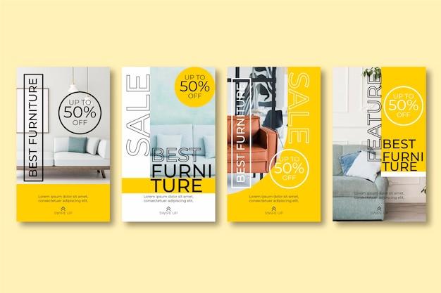 Pacote de histórias instagram para venda de móveis
