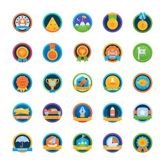 Pacote de ícones arredondados