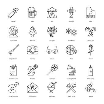 Pacote de ícones confettis