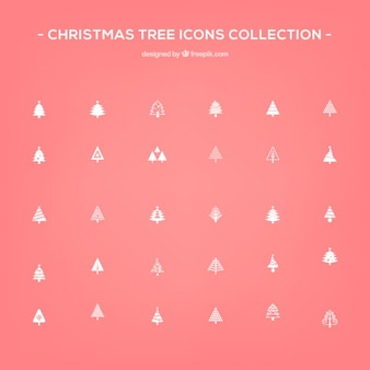 Pacote de ícones da árvore de natal vector