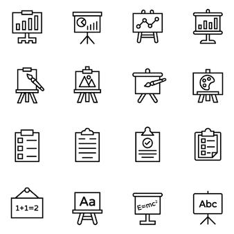 Pacote de ícones de apresentações e quadros