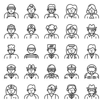 Pacote de ícones de avatar