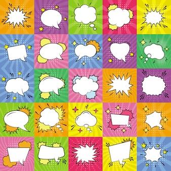 Pacote de ícones de bolhas de discurso vazio