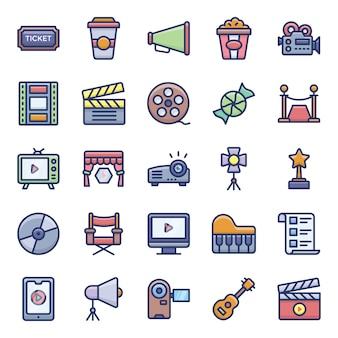Pacote de ícones de cinema