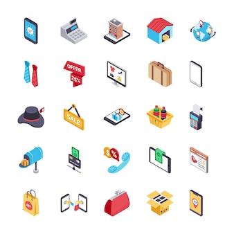 Pacote de ícones de compras e pagamentos online
