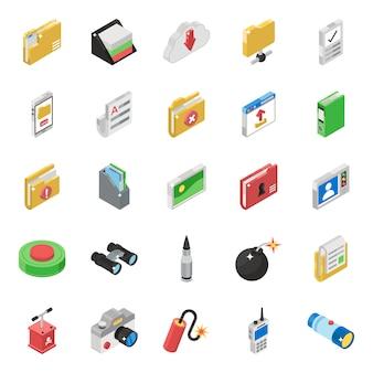 Pacote de ícones de comunicação digital